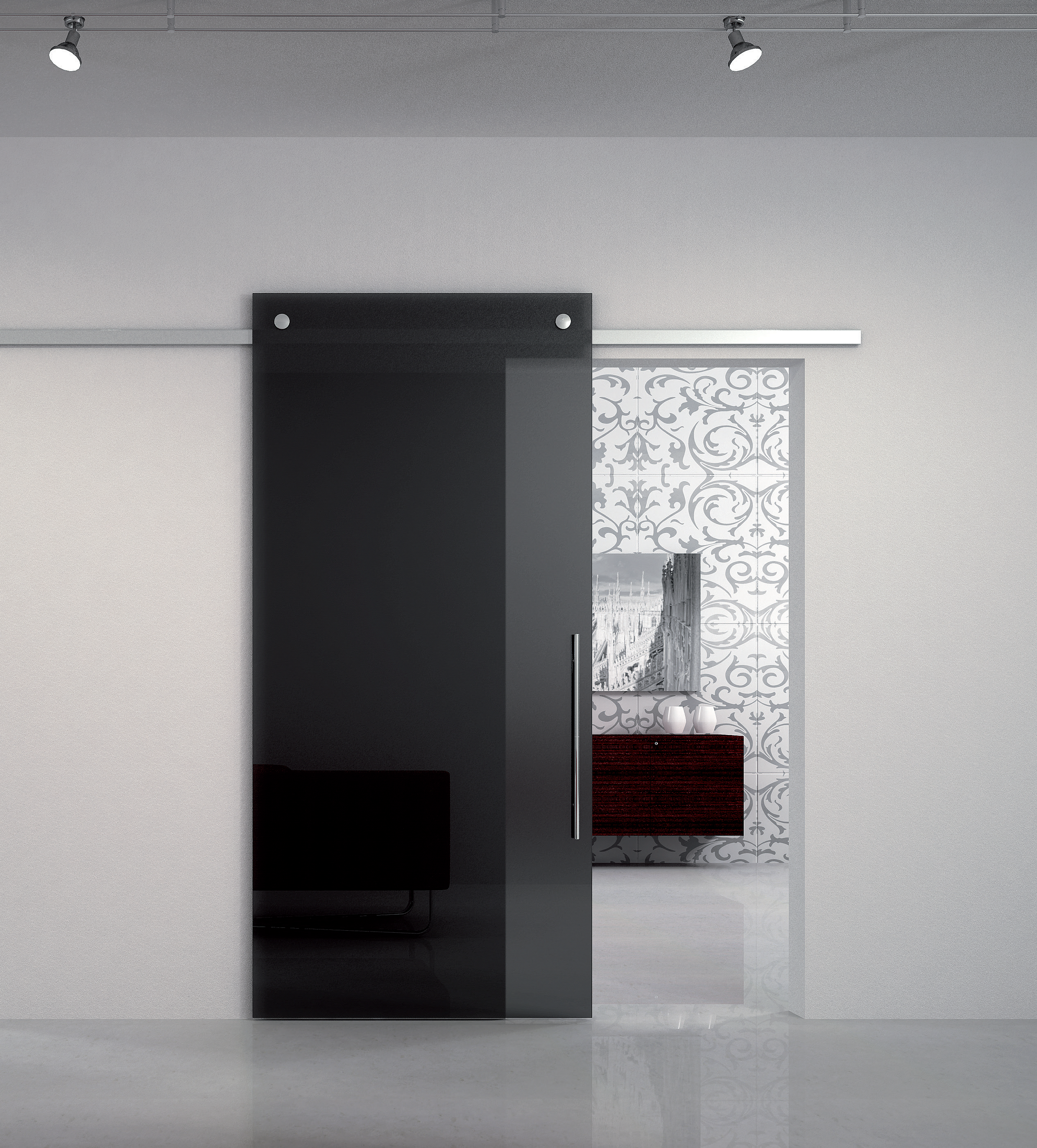 Porte Doppie Scorrevoli Vetro predari vetri - architettura vetro